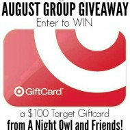 August $100 Target Gift Card Giveaway