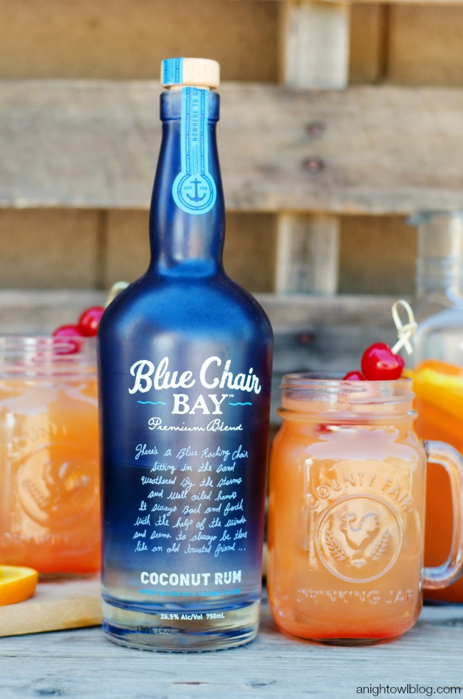 cup Blue Chair Bay Coconut Rum 2 cups orange juice 2 cups pineapple ...