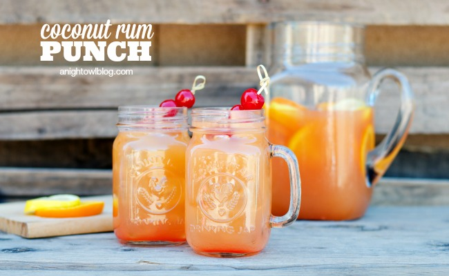 Coconut Rum Punch A Night Owl Blog
