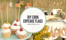 DIY Cork Cupcake Flags | anightowlblog.com