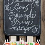 DIY Popsicle Chalkboard
