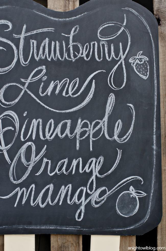 DIY Popsicle Chalkboard | anightowlblog.com