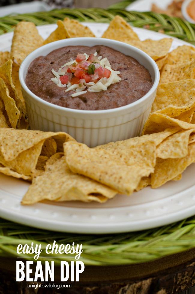 Easy Cheesy Bean Dip | anightowlblog.com