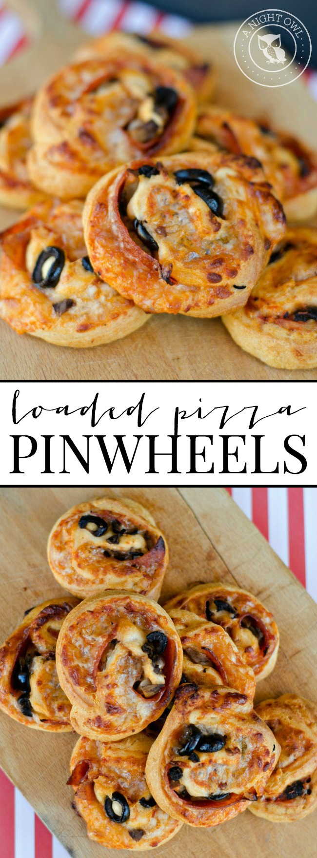 Loaded Pizza Pinwheels | anightowlblog.com