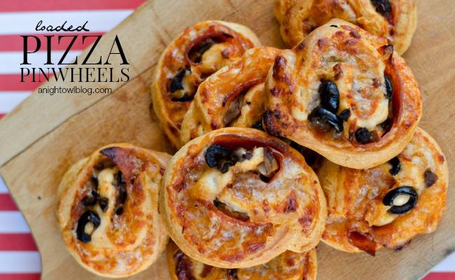 Loaded Pizza Pinwheels | anightowlblog.com