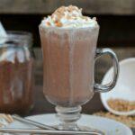 Salted Caramel Frozen Hot Chocolate
