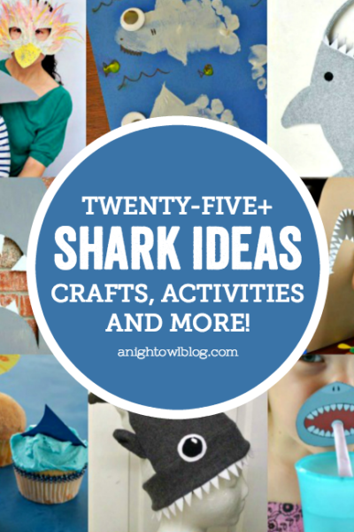 Having a shark party or celebrating #SharkWeek like we are? Then check out these 25+ Shark Ideas - Crafts, Activities and More!