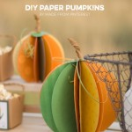 DIY Paper Pumpkins and More | Autumn Market