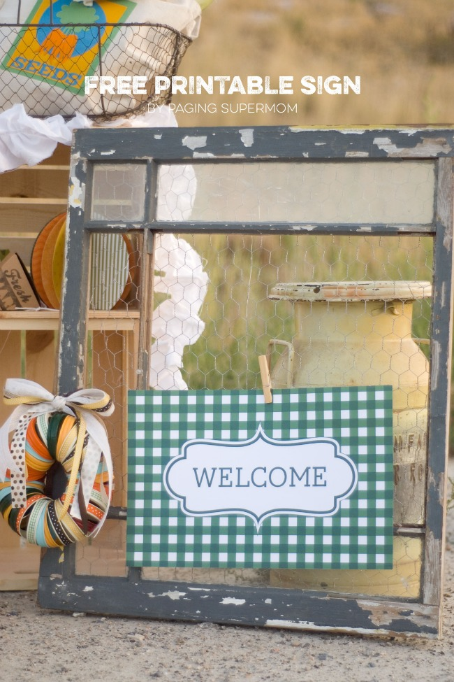 Autumn Market Sign and Free Printables