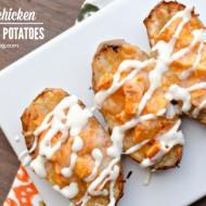 Buffalo Chicken Twice Baked Potatoes