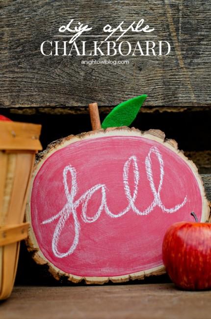 DIY Apple Chalkboard | anightowlblog.com