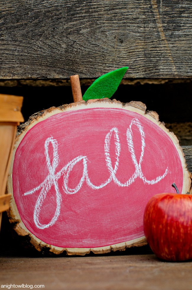 DIY Apple Chalkboard | Timeless Rustic Decor For Fall