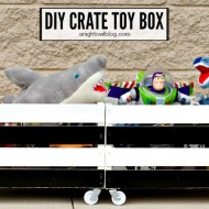 DIY Wooden Crate Toy Box