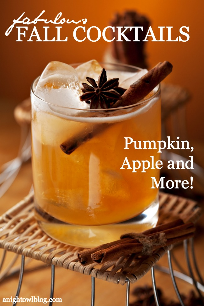 What a great list of fabulous Fall Cocktail Recipes - Pumpkin, Apple and MORE!