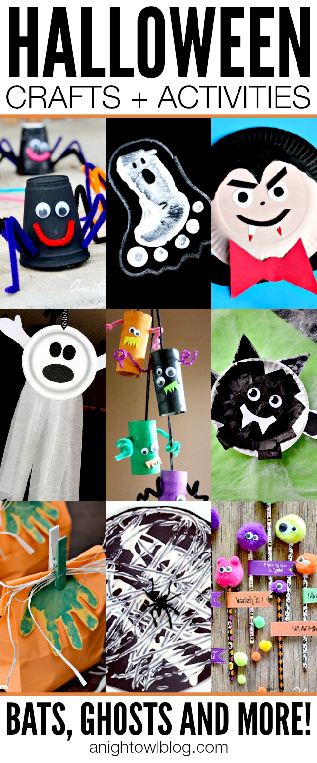 This list of Halloween Crafts for Kids is perfect to keep them creating this time of year!
