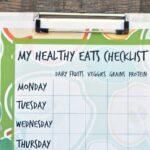 """Kids """"Healthy Eats"""" Checklist"""