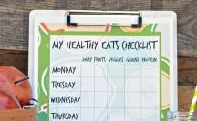 Kids Healthy Eats Checklist | anightowlblog.com