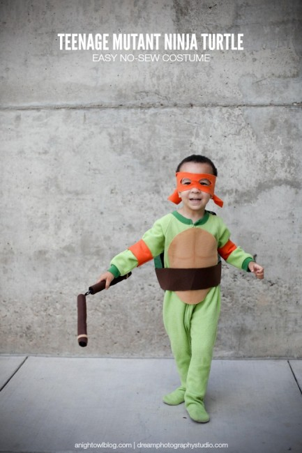 Easy Teenage Mutant Ninja Turtle Costume | anightowlblog.com