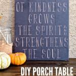DIY Porch Table