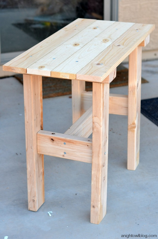 diy small table legs diy porch table a owl