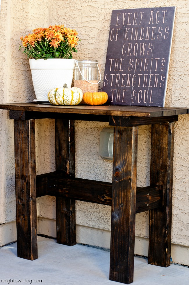 DIY Porch Table | anightowlblog.com