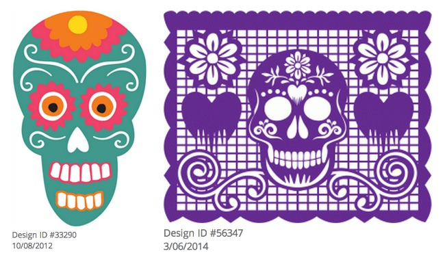 Day of the Dead Silhouette Shapes