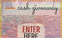 $500 Fabulous Fall Cash Giveaway | anightowlblog.com