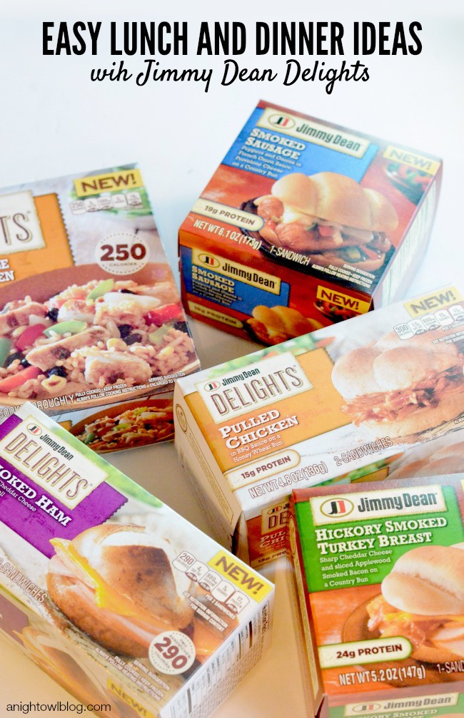 Easy Lunch and Dinner Ideas with Jimmy Dean Delights #ShineAnytime