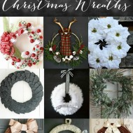 Easy Poinsettia Christmas Wreath