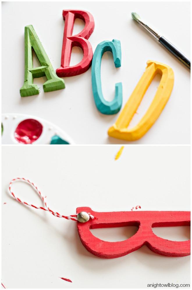 ABC Kids Christmas Ornaments | anightowlblog.com