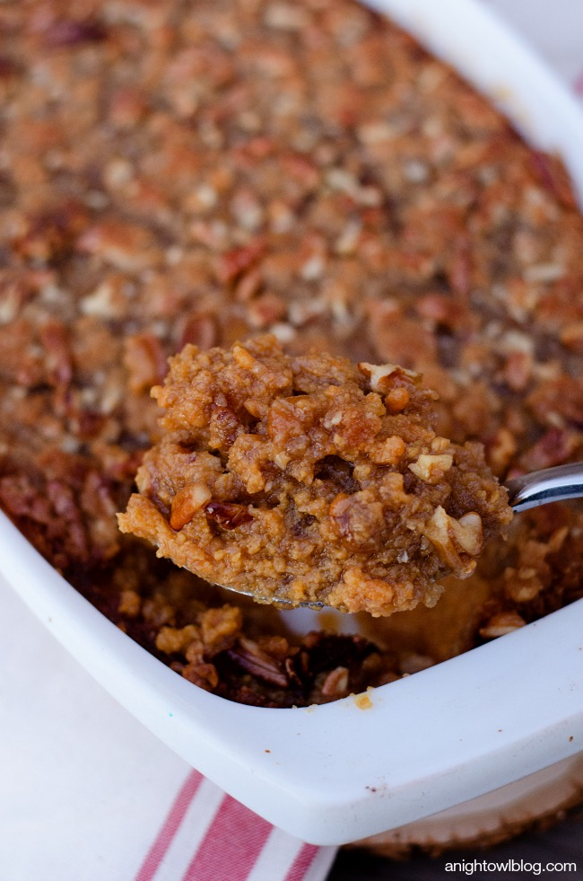 Easy Sweet Potato Casserole | anightowlblog.com