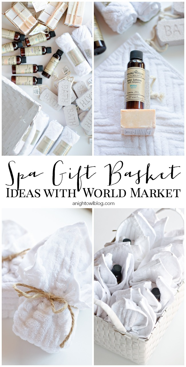 Spa Gift Basket Ideas with World Market #SharetheJoy_WM