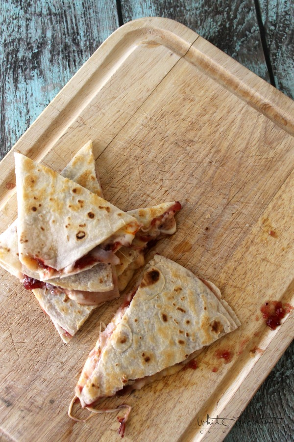 Turkey Cranberry Quesadilla | A Night Owl Blog