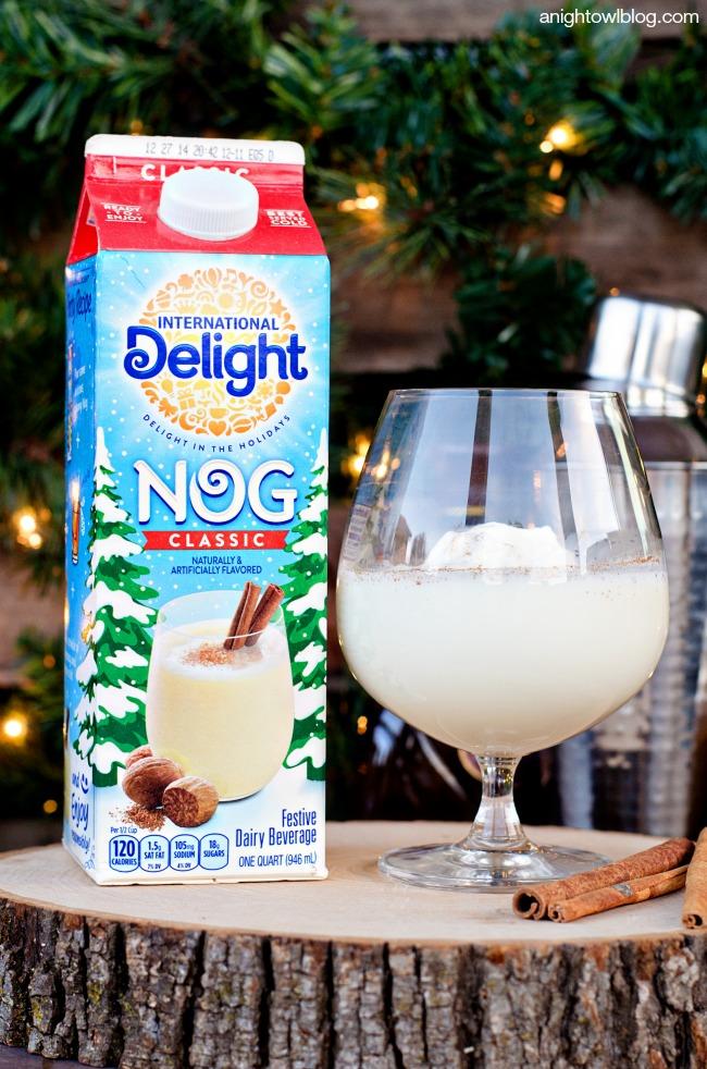 White Chocolate Eggnog Cocktail | anightowlblog.com