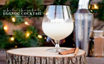 White Chocolate Eggnog Cocktail feature