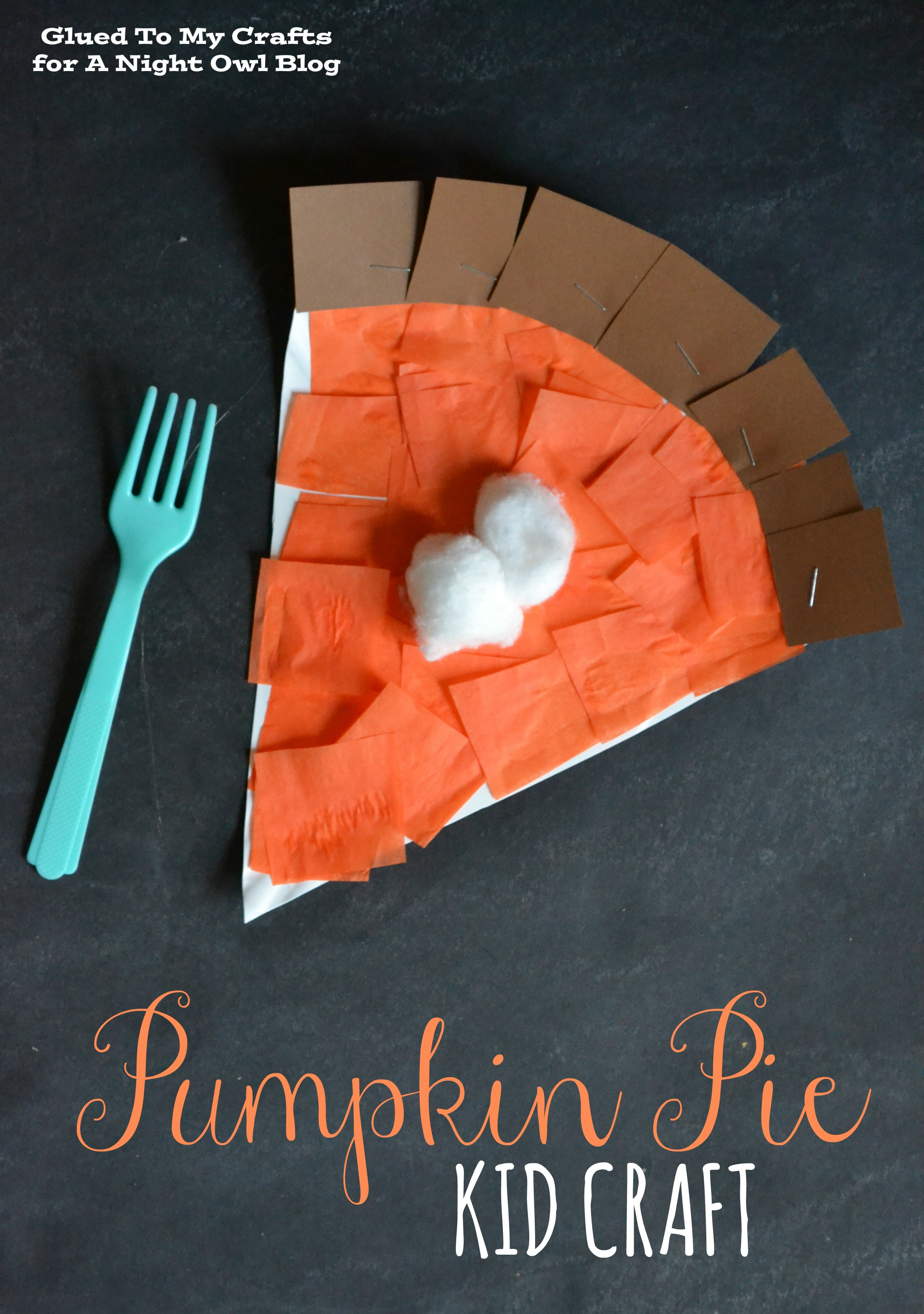 Thanksgiving Craft For Kids Pumpkin Pie Kids Craft A Night Owl Blog