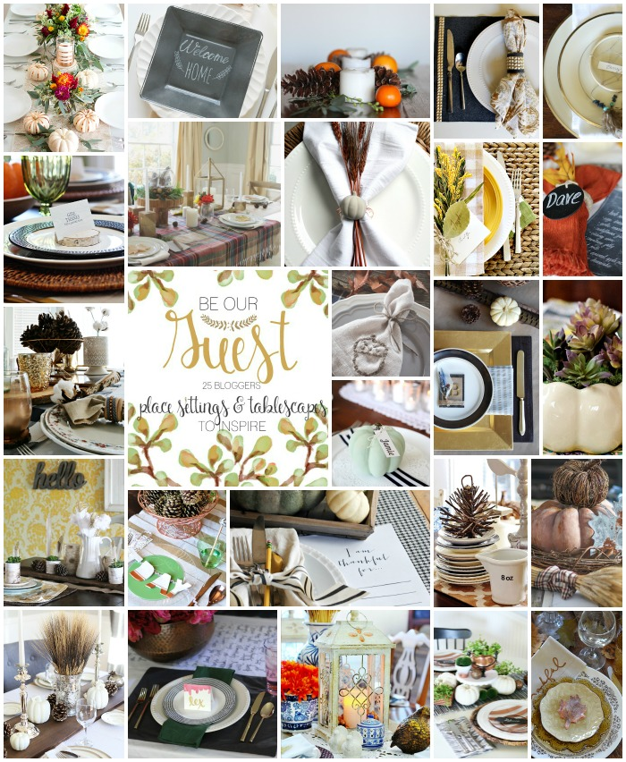 Be Our Guest - Thanksgiving Tablescapes and Place Settings