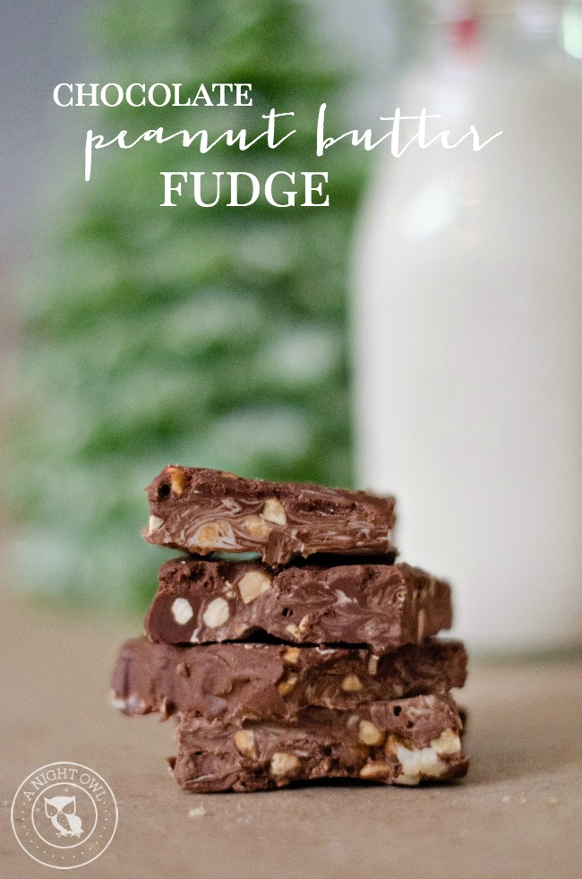 Chocolate Peanut Butter Fudge | anightowlblog.com