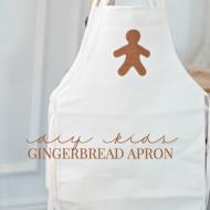 DIY Kids Gingerbread Aprons