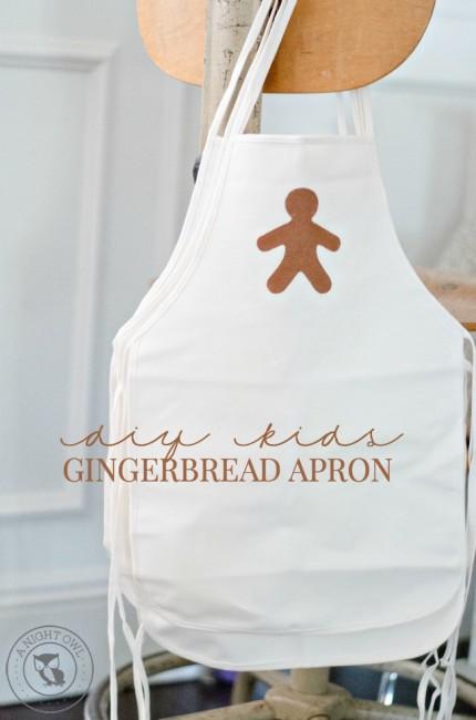 DIY Kids Gingerbread Apron   anightowlblog.com