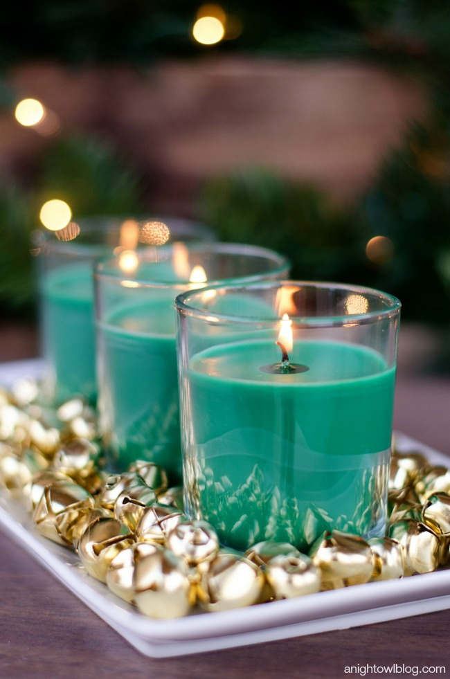 Easy christmas centerpiece a night owl