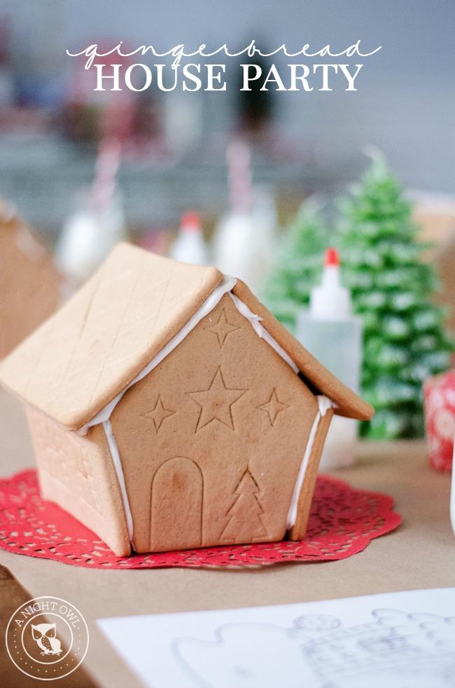Gingerbread House Party   anightowlblog.com