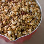 Homemade Peanut Pecan Caramel Corn