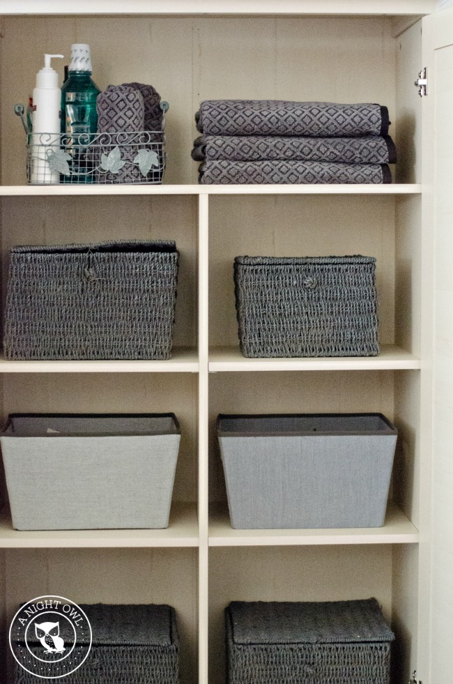 Linen Organization with Sauder | anightowlblog.com
