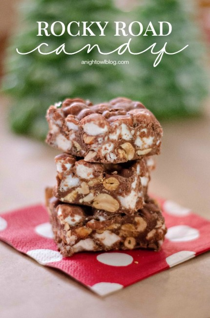 Easy Rocky Road Candy | anightowlblog.com