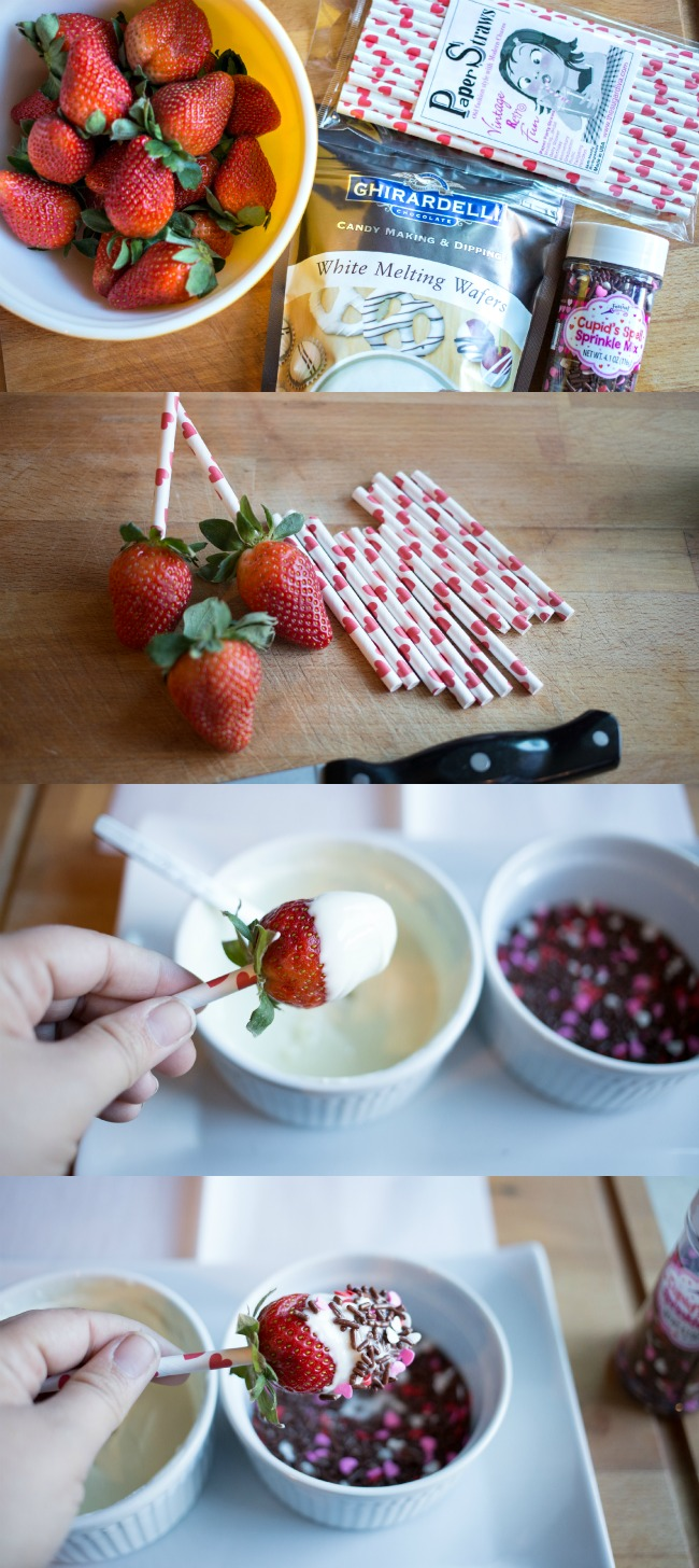Chocolate Covered Strawberry Pops | anightowlblog.com