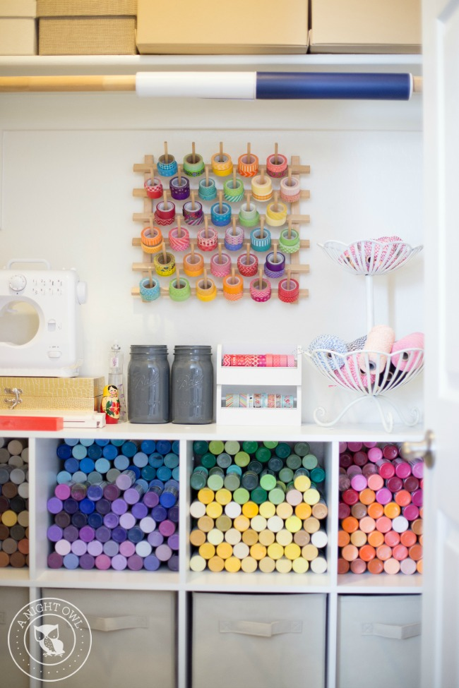 Easy Craft Room Organization Ideas | anightowlblog.com