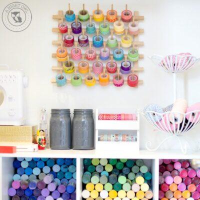 Easy Craft Room Organization