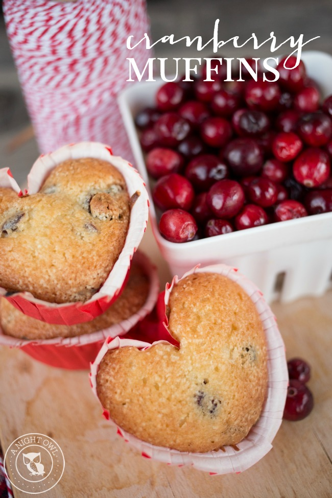 Easy Cranberry Muffins | anightowlblog.com