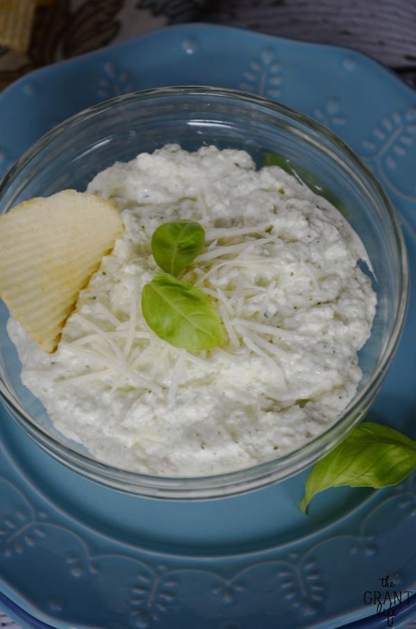 Creamy parmesan basil dip